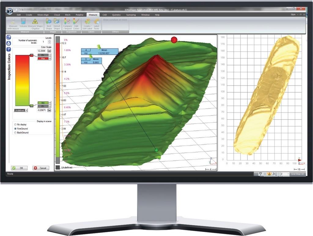 logiciel 3d nuage de point 3D RESHAPER